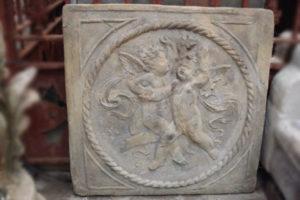 Churub figures in Stone composite Frieze