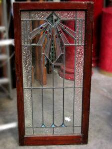 Leadlight window original art deco