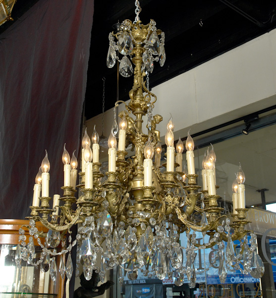 Multi brass chandelier serca 1890