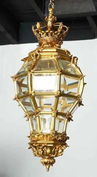 Octagonal Brass Lantern