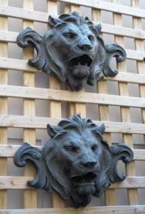 French art neveau lion frieze