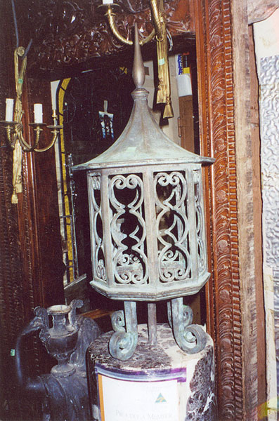 Original Swedish Consule Light with Filigree