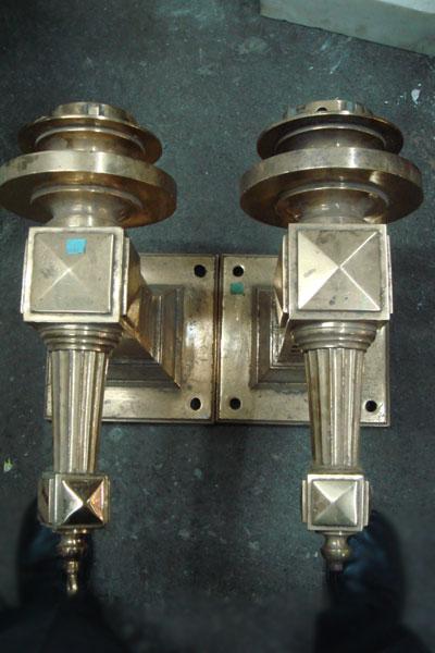 Brass Torchere Light