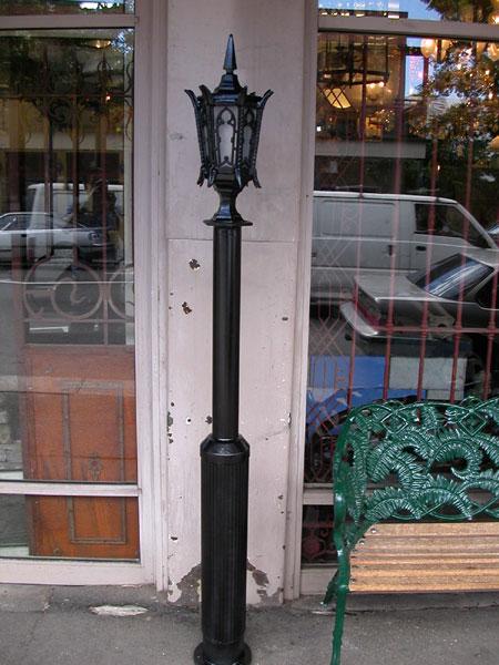 Gothic Revival Lantern on Post