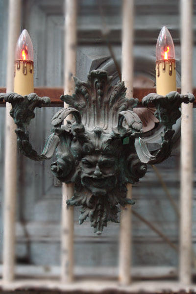 Gothic Style Bronze Candelabra Light