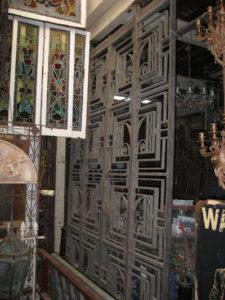 Art deco bronze entry way gates
