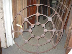 Original cast iron window grill