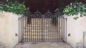 Finely detailed bronze gates