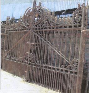 Hand wrought iron gates