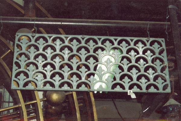 Victorian cast iron window grill