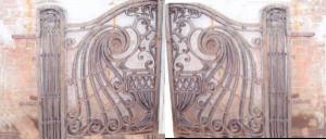 Original art nouveau driveway gates