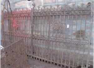 Original victorian entryway gates