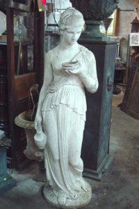 Stone composite garden statue