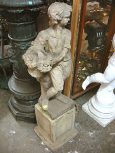 Young peasant child garden Statue