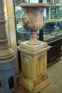 Stone composite garden urn